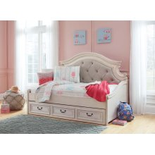 Realyn - Chipped White Twin Daybed With Storage