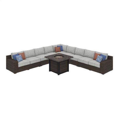 Alta Grande - Beige/Brown 7 Piece Patio Set