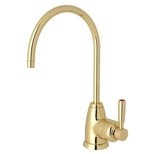 Unlacquered Brass Perrin & Rowe Holborn C-Spout Hot Water Faucet