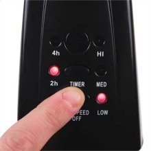 18 In. Stand Fan with Remote, Black