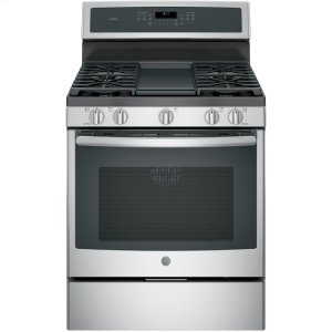 "GE ProfileGE Profile™ 30"" Free-Standing Gas Convection Range"