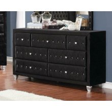 Deanna Contemporary Black and Metallic Dresser