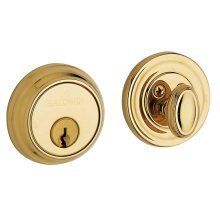 Lifetime Polished Brass Traditional Deadbolt