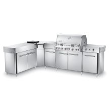 SUMMIT® GRILL CENTER WITH SOCIAL AREA (LEFT-HAND) NATURAL GAS - STAINLESS STEEL