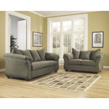 Signature Design by Ashley Darcy Living Room Set in Sage Microfiber