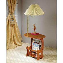 Traditional Warm Brown Accent Table