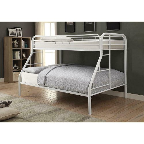 Morgan White Twin Full Bunk Bed