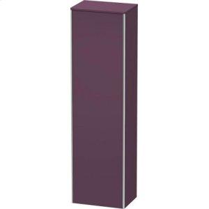 Tall Cabinet, Aubergine Satin Matt Lacquer