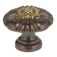 Ornate Cabinet Knob in SB (Shaded Bronze, Lacquered)