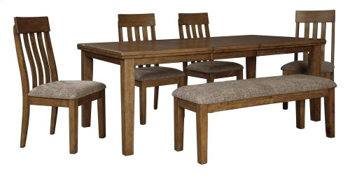 Flaybern Butterfly Table, 4 Chairs, Bench