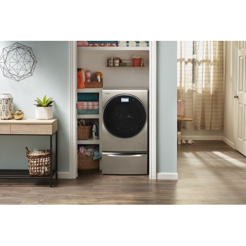"""11.3"""" Pedestal for Front Load Washer and Dryer with Storage"""