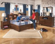 Delburne - Medium Brown 2 Piece Bedroom Set Product Image