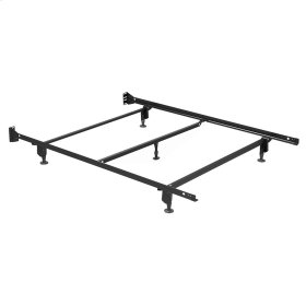 Inst-A-Matic Hospitality H753GC4 Bed Frame with Fixed Headboard Brackets and (5) 2-Piece Glide Legs, Full