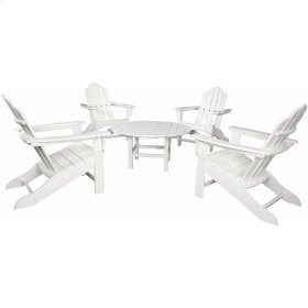 All-Weather 5-Piece Adirondack Chat Group - White