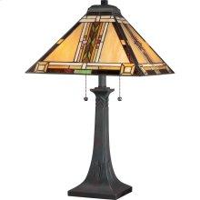 Navajo Table Lamp in Valiant Bronze