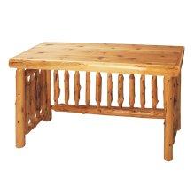 Cedar Open Writing Desk - Standard Finish