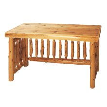 Cedar Open Writing Desk - Standard Finish