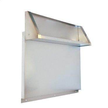 Stainless Steel Backsplash with Dual Position Shelf