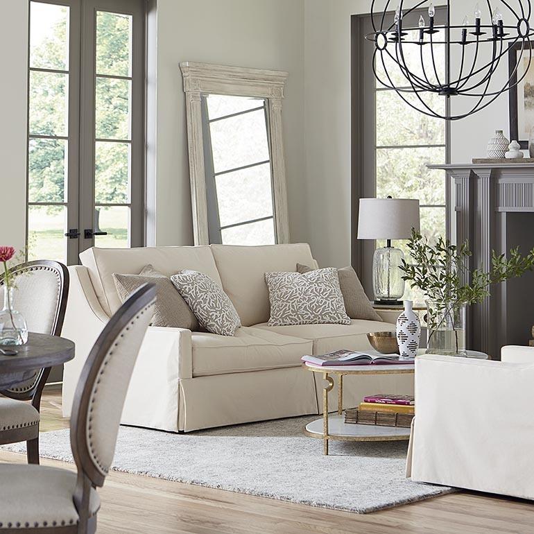263762Bassett Furniture Designer Comfort Bridgewater Sofa ...