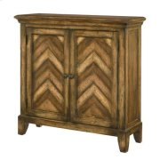Hidden Treasures Chevron Cabinet Product Image