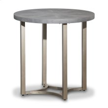 Alta Round End Table W/ Gray Top