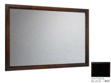 "Transitional 60"" x 39"" Solid Wood Framed Bathroom Mirror in Antique Black"