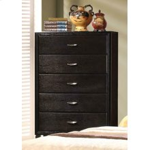 Nacey Dark Brown Five-drawer Chest