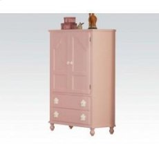 Pink W/wh Flower TV Armoire Product Image