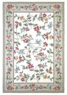 Colonial 1707 Ivory Floral Vine 2' X 8' Runner