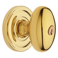 Lifetime Polished Brass 5225 Egg Knob