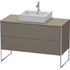 Vanity Unit For Console Floorstanding, Flannel Grey Satin Matt Lacquer