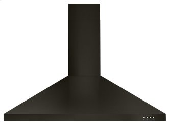 """36"""" Contemporary Black Stainless Wall Mount Range Hood"""