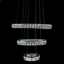Asteroids LED Chandelier Round Rings