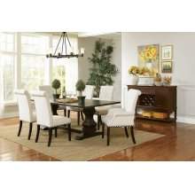 Parkins Traditional Rustic Espresso Dining Table