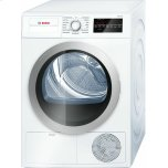 Bosch500 Series Cond. Dryer - 208/240V, Cap. 4.0 cu.ft., 15 Cyc.,65 dBA, SS Drum, Silv. Rev./Door; ENERGY STAR
