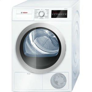 Bosch500 Series Cond. Dryer - 208/240V, Cap. 4.0 cu.ft., 15 Cyc.,65 dBA, SS Drum, Silv. Rev./Door; ENERGY STAR