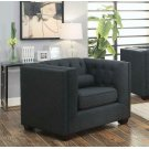 Cairns Transitional Charcoal Tufted Back Chair Product Image