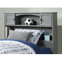 Newport Bookcase Headboard Twin Atlantic Grey