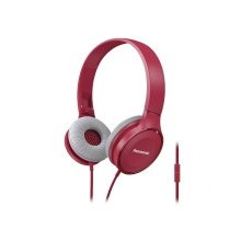 Lightweight On-Ear Headphones with Mic + Controller - Pink - RP-HF100M-P