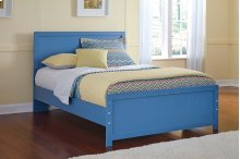 Bronilly - Blue 3 Piece Bed Set (Full)