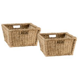 Hillsdale FurnitureTuscan Retreat(r) Blanket Bench Baskets (2) - Seagrass