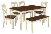 Whitesburg - Brown/Cottage White 6 Piece Dining Room Set Product Image