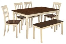 Whitesburg - Brown/Cottage White 6 Piece Dining Room Set