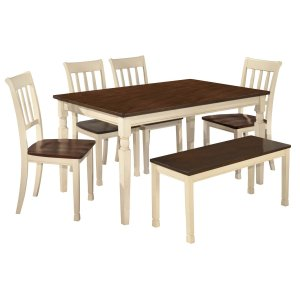 Ashley Furniture Whitesburg - Brown/cottage White 6 Piece Dining Room Set