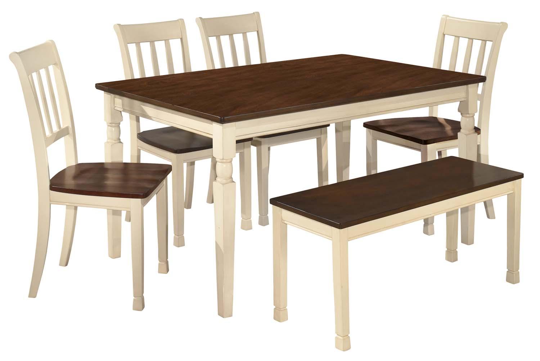 Whitesburg   Brown/Cottage White 6 Piece Dining Room Set