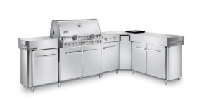 SUMMIT® GRILL CENTER WITH SOCIAL AREA (RIGHT-HAND) LP GAS - STAINLESS STEEL