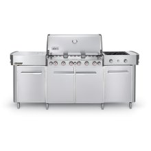SUMMIT® GRILL CENTER LP GAS - STAINLESS STEEL