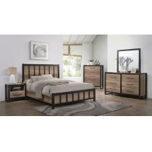 Edgewater Industrial Weathered Oak Queen Four-piece Set