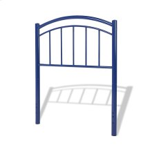 Rylan Fashion Kids Metal Headboard Panel with Gently Arced Top Rail and Vertical Spindles, Cadet Blue Finish, Twin