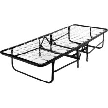"""Deluxe Rollaway Folding Link Spring Cot 1220 with Angle Steel Frame and 30"""" Foam Mattress, 29"""" x 75"""""""